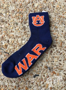 Donegal Bay AU War Eagle Quarter Sock, Navy