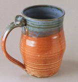 William Campbell Paper Clay Orange and Blue Mug