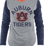 Arch Auburn AU Tigers Embroidered Two Tone Long Sleeve T-Shirt