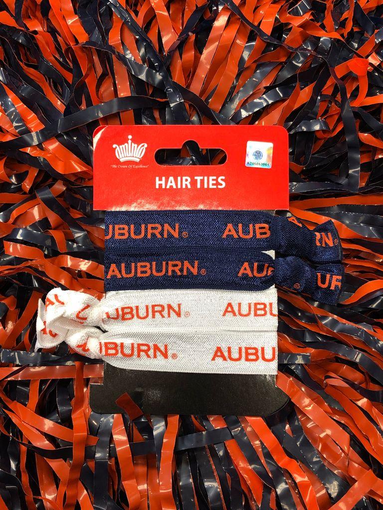 Auburn 4 pack hair ties