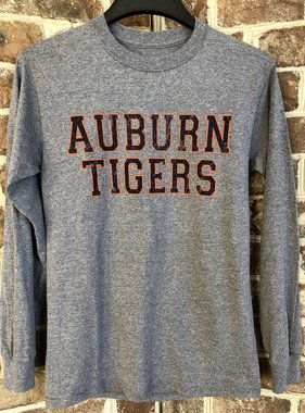 MV Sport Auburn Tigers Vintage Print Classic Long Sleeve T-Shirt