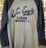 MV Sport Vintage Print War Eagle 1856 Two Tone Long Sleeve T-Shirt