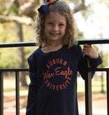 League Auburn Script War Eagle University Ruffle Youth Long Sleeve