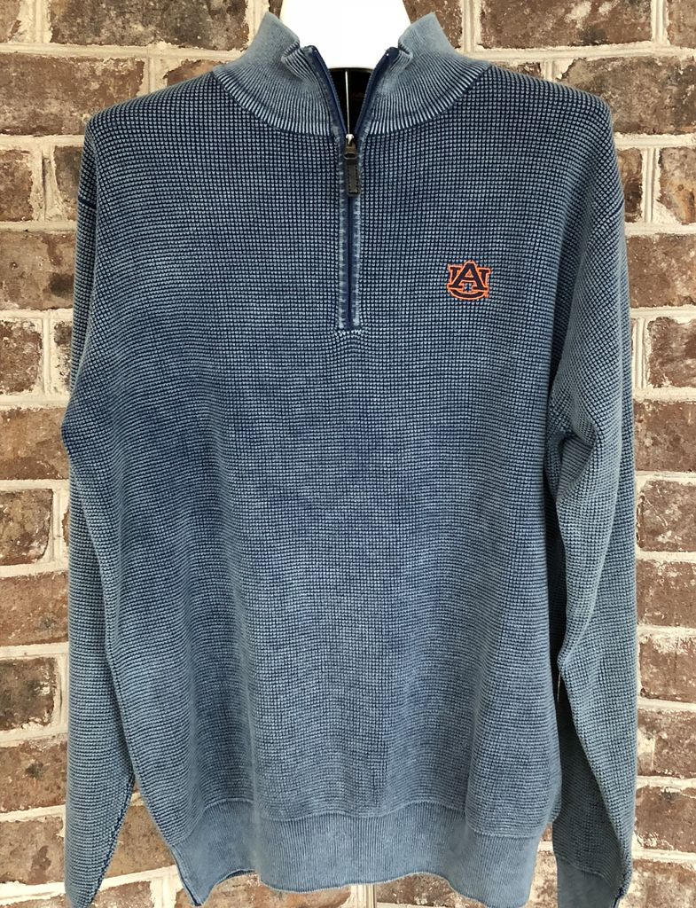 Divots AU 1/2 Zip Distressed Pullover