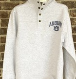 League Vintage Arch Auburn AU Left Chest Snap Up Crew