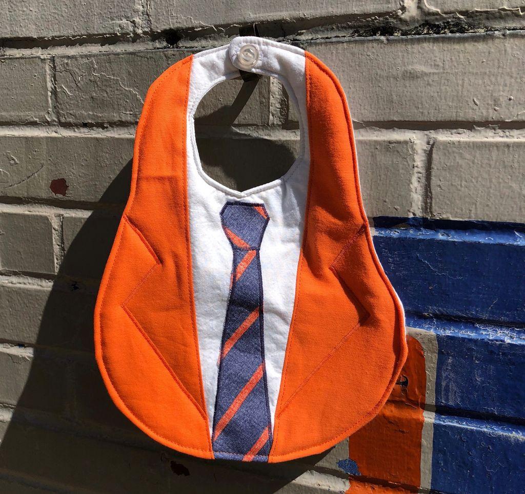 Sherri Givens Orange Handmade Bib