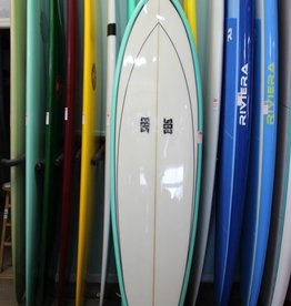 """Clean Ocean Surfboards 7'6"""" Clean Ocean Surfboards Devo IV Teal/White"""