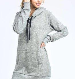 Grey hoodie tunic