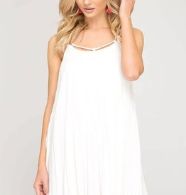 44a74904365a9 Off white cami pleated swing dress