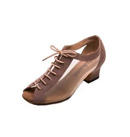 Stephanie Dance Shoes, Inc. GO4051 TAN NUBUCK MESH