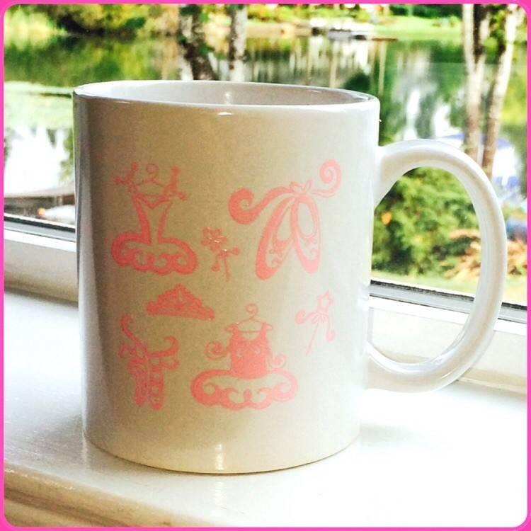 C and J Merchantile Ballerina Coffee Mug