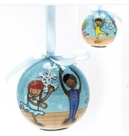 Dasha Designs Blinking Ballet Ornament