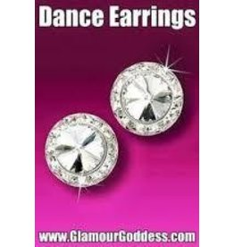Glamour Goddess Jewelry, Inc Crystal Rstone Rivoli 20mm Earrings Clip
