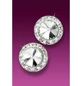 Glamour Goddess Jewelry, Inc Crystal Rstone 17mm Earrings Post