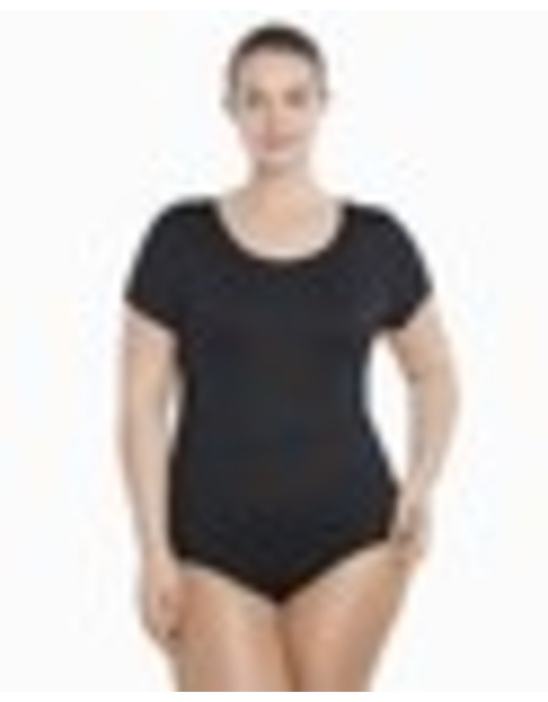 Danskin Plus Size Cap Sleeve