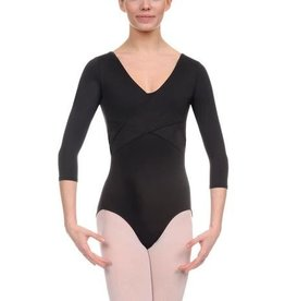 Danskin Adult Wrap Front 3/4 Sleeve