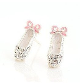 Crystal Ballet Shoe Earrings
