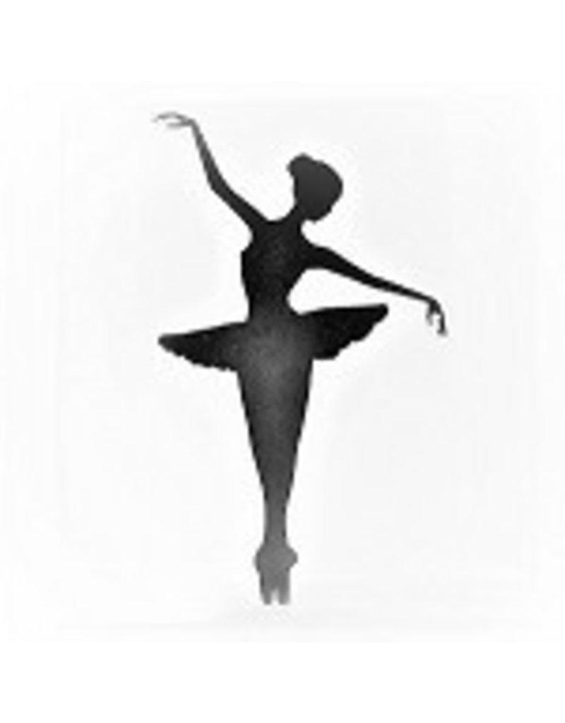 "C and J Merchantile Ballerina Window Decal 4"""