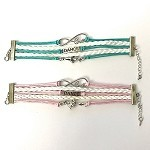 C and J Merchantile Infinity Love, Dance, Ballerina Bracelet
