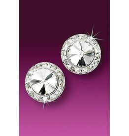 Glamour Goddess Jewelry, Inc Crystal Rstone 15mm Earrings Clip