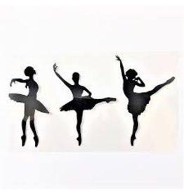 """C and J Merchantile Ballerina Dancers Window Decal 3"""""""