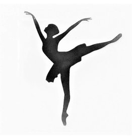 C and J Merchantile Arabesque Dancer Window Decal 4""