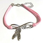 C and J Merchantile Infinity Love Ballet Slippers Bracelet