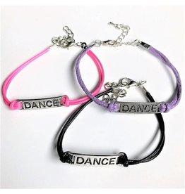 C and J Merchantile Embossed DANCE Bracelet