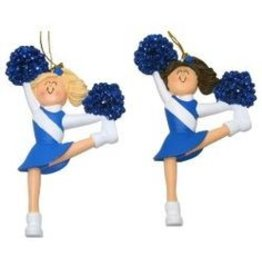 Dasha Designs Cheerleader Ornament Blue