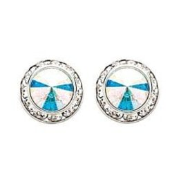 Glamour Goddess Jewelry, Inc AB Crystal Rstone Earrings 17mm Post
