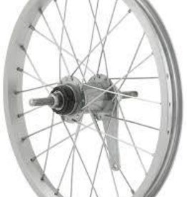 Handbuilt Wheels Rear, 20'', Wheel, Alex C1000, Silver / Coaster Silver, 36 Steel spokes, Nutted axle