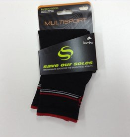 SaveOurSol SOCKS SAVE OUR SOLES, Bamboo,  BLACK - 3'' - S