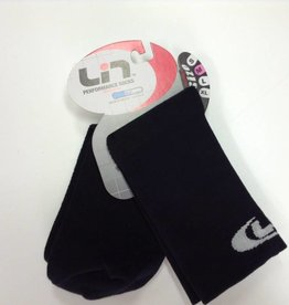 LIN 5 INCH SOCKS - BLACK - MEDIUM