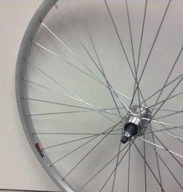 Handbuilt Wheels Rear 700C Wheel Alex X101 Silver / FM-31 Silver, 36 Steel spokes, Nutted axle, For freewheel