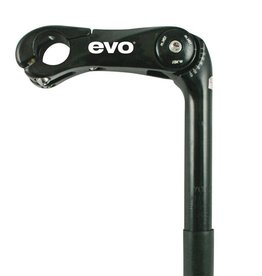 Evo EVO, Adjustable Stem, 25.4mm, For 25.4mm Handlebars, Black, 110mm