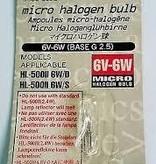 Cat Eye 6V-6W Micro Halogen Bulb For HL-500II 6W-D/S, Cat Eye
