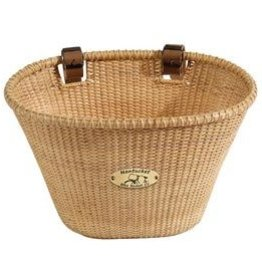 Nantucket Bike Basket Nantucket, Ligthship, Oval basket, 14''x10''x8.5'', Natural
