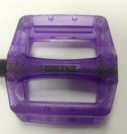 MacNeil, Slipnot plastic, pedals, trans purple