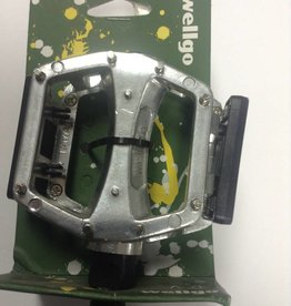 Wellgo LU-204U Pedals - Silver - 9/16
