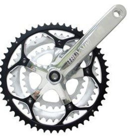 Truvativ Truvativ, Touro, Crankset, 9sp, 170mm, 30/42/52, BCD: 74/130, Power Spline, CL: 49.5mm, Polished, 910g