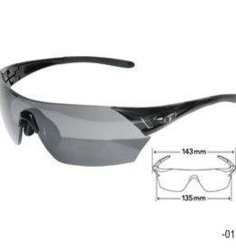 Tifosi Tifosi, Podium, Sunglasses, Frame: Black, Lenses: Smoke, AC Red, Clear