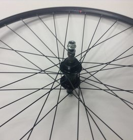 Handbuilt Wheels REAR, 700C, Alex G6000 Wheel, Black / FM-31-R Silver, 36 DT Stainless Spokes, Nutted Axle, Freewheel