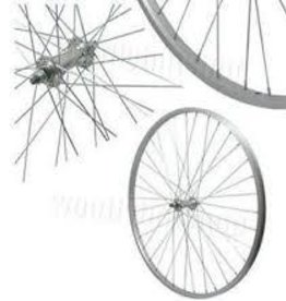 Roues Alloy, Bolted Axle, Front, 700C, DW Silver Rim, 36XSteel