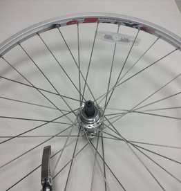 Roues RR, 26'', Wheel, Jalco, DM-18, Silver / FM-31-RQR Silver, 36 Steel Spokes, QR Axle For Freewheel