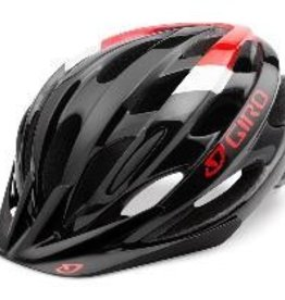 GIRO HELMET REVEL, MATTE BLACK/RED, 54-61CM