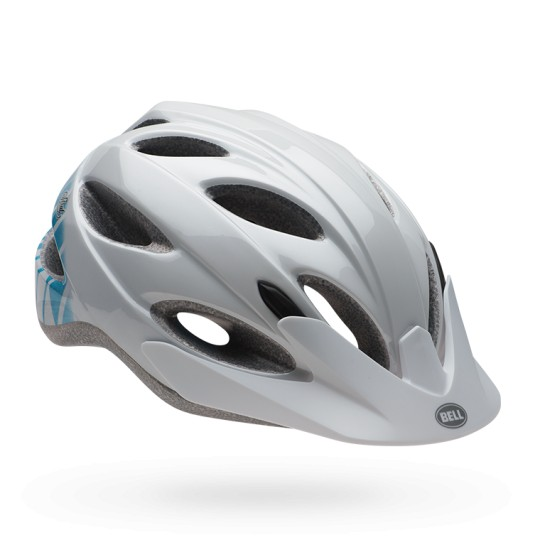 BELL HELMET STRUT WHITE/TEAL SLANT, JOY RIDE COLLECTION 50-57CM