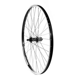 Handbuilt Wheels REAR, 26'', Wheel, Alex DM-18 Black / FH-RM70 Black, 36 Stainless Spokes, QR Axle, 8/9 Sp Cassette
