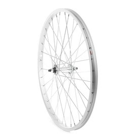 Front 24'' Wheel Alex C1000 Silver / FM-21 Silver, 36 Steel spokes, Nutted axle