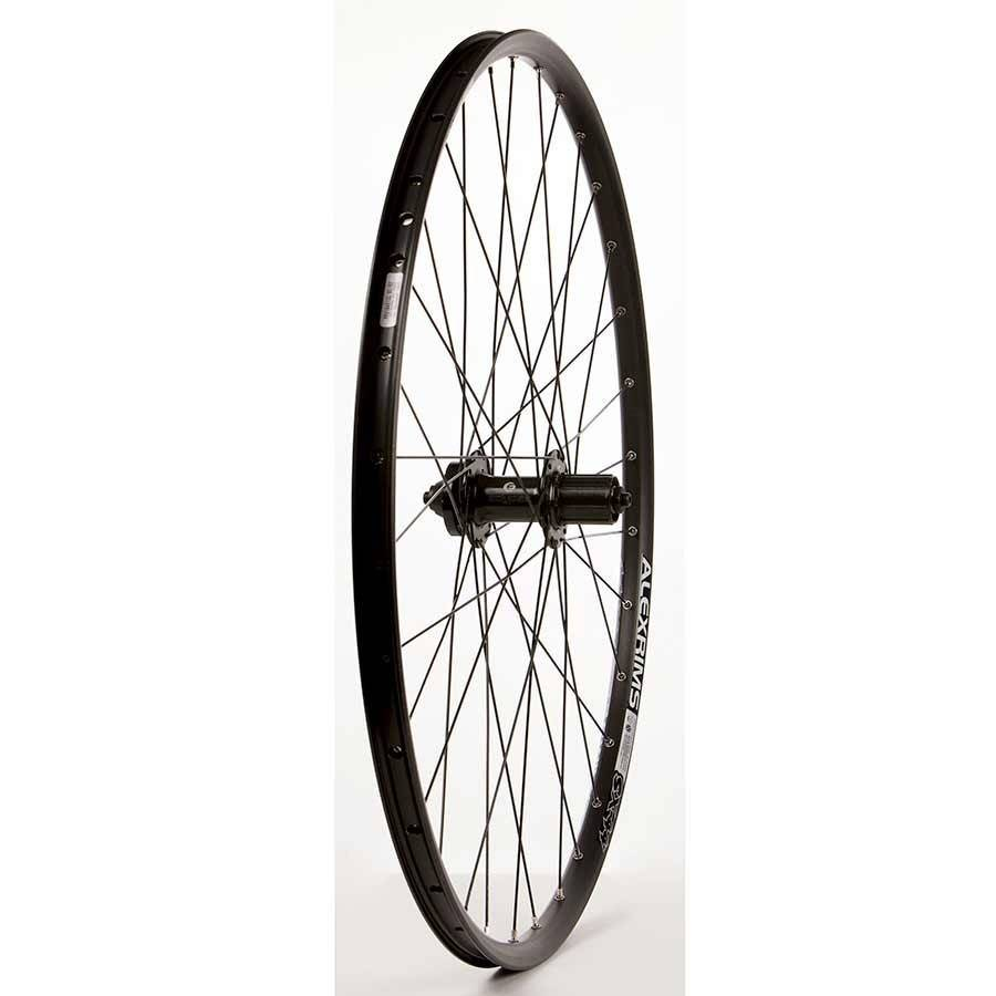 Wheel Shop, Rear 29'' Wheel, Alex SX-44 Black / DC-22 Black, 32 DT Stainless Black Spokes, QR Axle, 8/9/10 Sp Cassette, ISO 6 Bolt