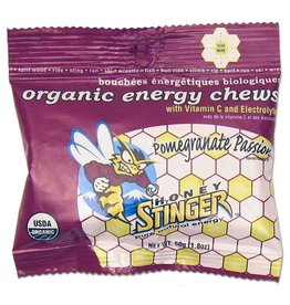 Honey Stinger Honey Stinger, Organic Energy Chews, Box of 12 x 50g, Pomegranate single
